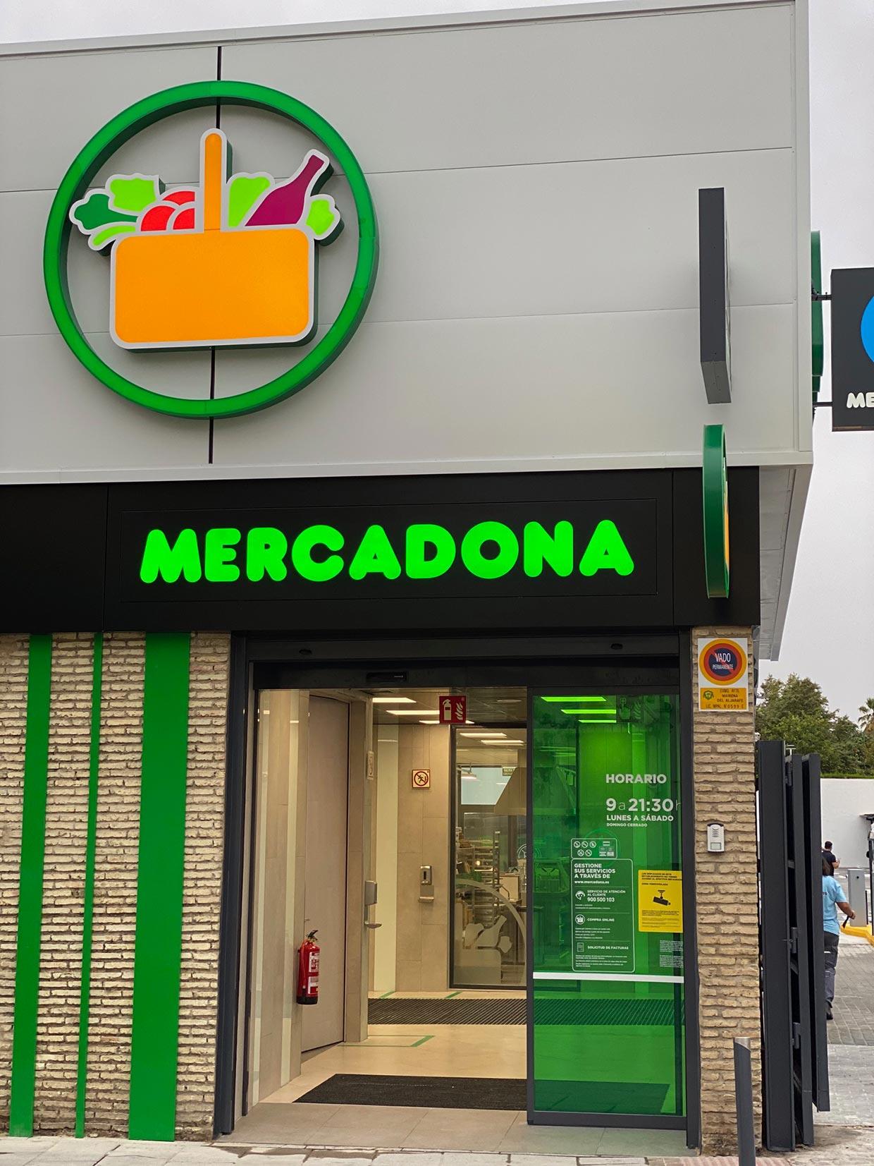 Obras y reformas para supermercados Mercadona en España