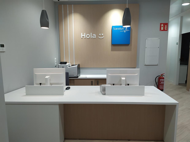 Obra y reforma de clínica dental Sanitas en Madrid