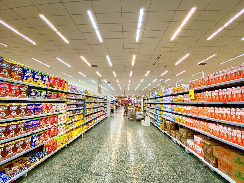 Pasillo y lineales de un supermercado